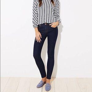 LOFT Modern Skinny Dark Wash Jeans